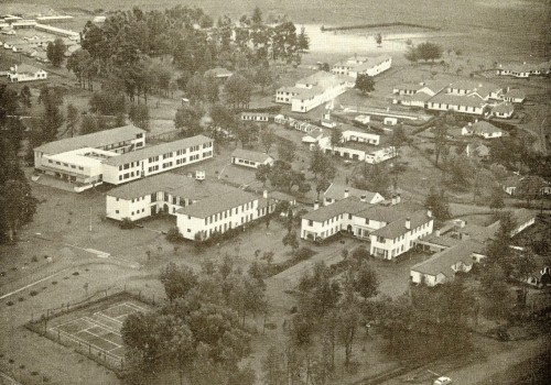 1963 Highlands School from the air